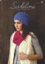 Sublime Superfine Alpaca DK - 6111 Hat & Snood Knitting Pattern